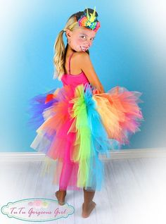 rianbow tutu costumes for ballet | Toddler Rainbow Bustle Tutu...Birthday Tutu, Photo ... | Trick or Tre ...