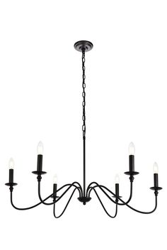Hamza Candle Style Chandelier - All For Decoration Simple Chandelier, Black Chandelier, Modern Chandelier, Chandelier Lighting, Candle Chandelier, Farmhouse Chandelier, Kitchen Chandelier, Farmhouse Lighting, Kitchen Lighting