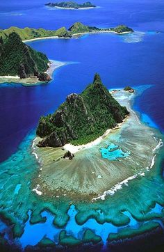 A volcanic archipelagoa wonder. Mamanuca Island, Fiji #travel #islands #places