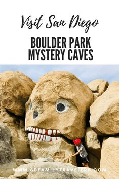 Boulder Park Mystery Caves and Desert View Tower - San Diego Family Travelers San Diego Vacation, San Diego Travel, Visit San Diego, California Dreamin', Eagle Rock California, San Diego Living, To Infinity And Beyond, Family Adventure, Amigurumi