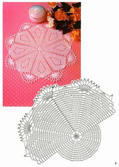 Easy doily to crochet…. with pattern Crochet Doily Diagram, Filet Crochet, Crochet Motif, Crochet Doilies, Crochet Thread Patterns, Doily Patterns, Crochet Designs, Viking Tattoo Design, Viking Tattoos