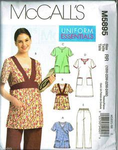 McCalls Pattern M5895 Uniform Essentials Scrub Top Bottoms Dress 18W 20W 22W 24W