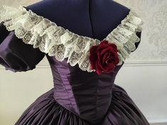 Décolleté de robe 1850. Confection à la demande. Empire, Victorian, Dresses, Fashion, Dress, Vestidos, Moda, Fashion Styles, Fashion Illustrations