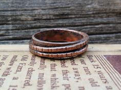 Two Ring Copper Ring by stacyjayjewelry