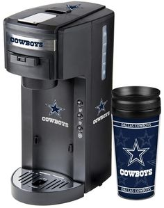 Brew up some team spirit with this Dallas Cowboys Coffee Maker, a 2-in-1 Coffee Pod and ground coffee maker with Hydroforce Extraction System. Free Shipping - Visit SportsFansPlus.com for more details! #CoffeePods
