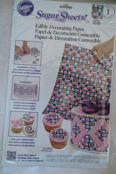Wilton Sugar Sheet Mod Dots Design For Cake & Cupcakes Decorating New Sheet Cakes Decorated, Sugar Sheets, Cupcakes Decorating, Wilton, Dots Design, Food, Hole Punch, Paper Envelopes, Sweets