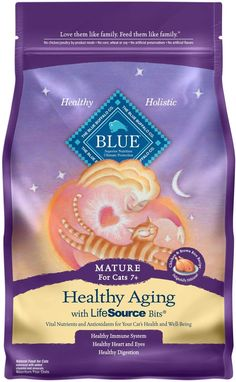 Every BLUE food range includes quality foods, namely authentic vegetables for meat and garden – which further provides special life-source pieces with Blue Buffalo featuring a rare mix of vitamins , minerals and antioxidants for outstanding nutrient harmony. Best Cat Food, Dry Cat Food, Pet Food, Senior Cat Food, Healthy Baby Food, Healthy Chicken, Healthy Foods, Chicken And Brown Rice, Natural Mature