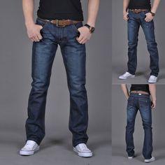 Men's Pure Color Denim Cotton Vintage Wash Hip Hop Work Trousers Jeans Pants more sizes Straight Denim Pants Mens Elastic Waist Denim Pants Mens, Trouser Jeans, Plaid Pants, Harem Pants, Hip Hop, Military Pants, Work Trousers, Denim Cotton, Most Handsome Men