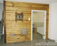 Wandverbau in Altholz Fichte, mit eingebautem Fenster Divider, Mirror, Room, House, Furniture, Home Decor, Carpentry, Window, Homemade Home Decor