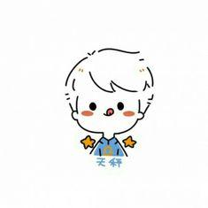 Cute Easy Drawings, Cute Little Drawings, Cute Kawaii Drawings, Kawaii Doodles, Cute Doodles, Kawaii Stickers, Cute Stickers, Cute Lab Puppies, Chibi Sketch