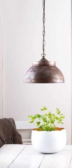 Fabrik Hängeleuchte / Vintage Rost  Leuchte Industrie Lampe Metall Hängelampe