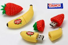 fruit shaped custom molded and custom shaped and designed USB Flash drives and…