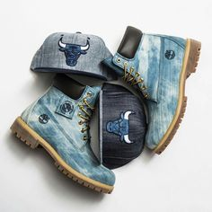 """Timberland: the """"Original Yellow Boot"""" has long been a popular American icon, the classic look has been copied by many, but never really duplicated. Denim Timberland Boots, Tims Boots, Timberland Waterproof Boots, Timberland Outfits, Denim Boots, Timberlands Shoes, Leather Boots, Shoe Boots, Ankle Boots"""