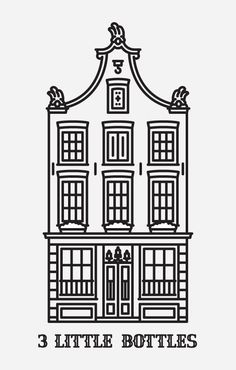 Dutch Mafia: Font & Icon Set on Typography Served House Illustration, Creative Illustration, Graphic Illustration, Building Illustration, Architecture Tattoo, Colour Architecture, Map Design, Icon Design, Graphic Design
