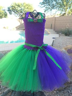 make your own fairy tutu dress tulle Crochet Halloween Costume, Halloween Tutu Costumes, Halloween Dress, Costume Joker, Flower Costume, Birthday Tutu, Tulle Dress, Ball Gowns, Kids Outfits