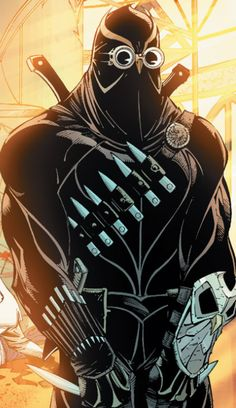 A Talon assasin from The Court of Owls.  Art by Greg Capullo.