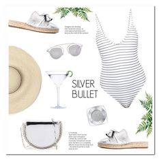 SILVER BULLET by uniqueimperfection on Polyvore featuring Bower, Paco Rabanne, Christian Dior, L'Oréal Paris, Summer, beachday, Silver, beach and uniqueimperfection