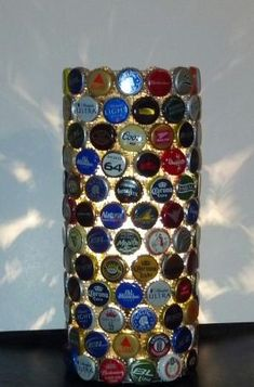 #Upcycled  #Repurposed Beer Bottle Cap Lamp! #DIY by SAburns