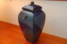 Vintage Tony Evans Signed Raku Art Pottery Urn A Condition | eBay