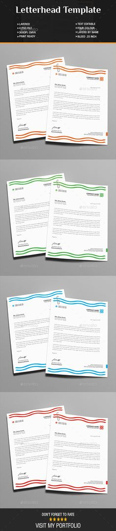 20+ Business Letterhead Templates Word and PSD for Corporates 20 - corporate letterhead template