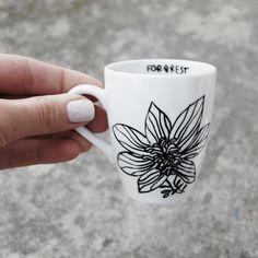 FOR.REST - espresso cup #flora #cup #ceramic #porcelain #white #minimal #homedecor #design