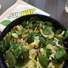 Ideal Protein clients - If you're out and about and strapped for time, here's an easy Phase one lunch at Subway: Turkey Salad - w/ spinach, lettuce, cucumbers, red onion, bell peppers, pepperoncini , salt, pepper, herbs and olive oil. Yum!