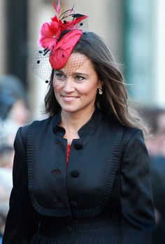 Pippa  A hot pink fascinator was the perfect accessory for a family friend's wedding in 2011.