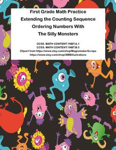 This collection of no prep printable worksheets addresses Extending the Counting Sequence and Ordering Numbers. There are six pages of practice, an answer key, a brain break puzzle and a coloring page, for a total of 17 pages. The pages are themed with silly monsters to help engage your students.