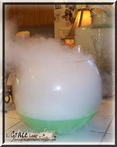 polyjuice potion!  1/2 gallon lime sherbet, 2 liters lemon-lime soda...then add dry ice!