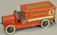 I just discovered this FIRE ENGINE BISCUIT TIN on LiveAuctioneers and wanted to share it with you: www.liveauctioneers.com/item/44852108