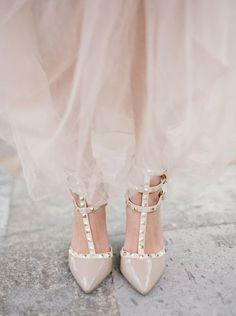 vestidos de novia color nude