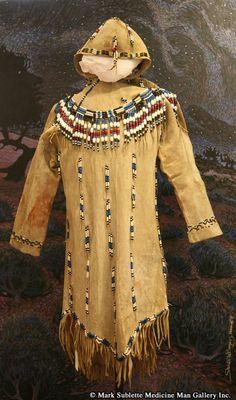 Dresses, Leggings and Collars - Athabaskan Beaded Hide Dress