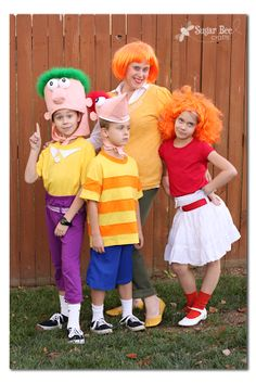 Phineas and Ferb, DIY Family Costumes #Halloween costumes