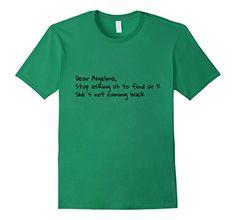 Men's Dear Algebra, Funny T-Shirt Math  2XL Kelly Green A...