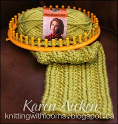 "Loom Knit - Textured Cowl with ""no counting garter stitch"" technique.  From Karen Aicken on Knitting With Looms"