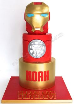 Birthday Cakes For Men, 5th Birthday, Iron Man Kuchen, Marvel Cake, Marvel Avengers, Iron Man Party, Ironman Cake, Iron Man Birthday, Bithday Cake