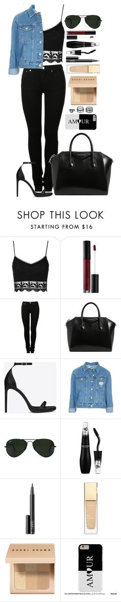 """Untitled #1533"" by fabianarveloc on Polyvore featuring Topshop, Anastasia Beverly Hills, MM6 Maison Margiela, Givenchy, Yves Saint Laurent, Ray-Ban, Lancôme, NARS Cosmetics, Clarins and Bobbi Brown Cosmetics"