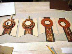 paper fall banners | DIY Project: Scrapbook Paper Fall Banner - aka design