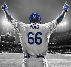 Yasiel Puig, you will be missed :( Dodgers Gear, Dodgers Nation, Let's Go Dodgers, Dodgers Baseball, Baseball Today, Baseball Guys, Major League Baseball Teams, Mlb Teams, Puig Dodgers