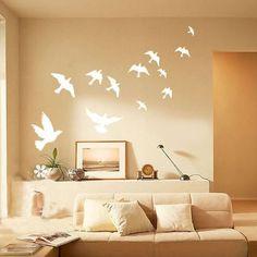 Fly Away Wall Deco - I like the wall color.