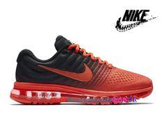 best website d7985 1b1ff Nike Air Max 2017 Vintage Uranium Sport Sneakers Hommes Rouge   Noir  849559-600-