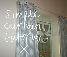 Easy curtain tutorial shared on the blog {forty percent fringe : sixty percent face: easy curtain tutorial}