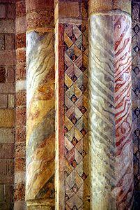 basilique de Brioude. Peinture romane. Auvergne
