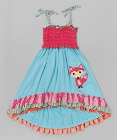 Aqua Fox Ruffle Hi-Low Dress - Infant