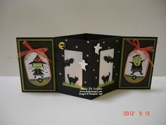 Halloween Luminary.. Don't like Halloween theme, but maybe Christmas card that could be turned into luminary?