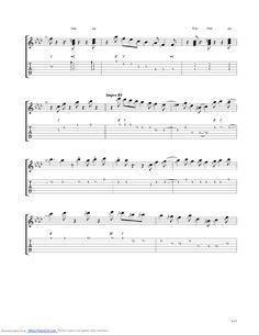 Midnight Blue guitar pro tab by Kenny Burrell @ musicnoteslib.com