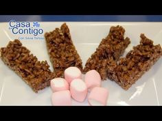 Buenisimos Rice Krispies Treats o dulces de krispies con chocolate y nubes o marshmallows, no te lo puedes perder.