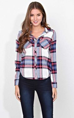 #FashionVault #styles for less #Women #Tops - Check this : S'mores Night Flannel Plaid - XLGE - Combo in Size X-Large by Styles For Less for $13 USD