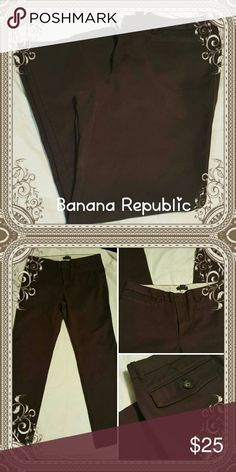 "Banana Republic brown stretch pants PLEASE ASK QUESTIONS BEFORE OFFERS OR BUYING ALSO READ CLOSET DETAILS   Banana Republic brown pants   30"" inseam 16.5 waist   These are in excellent  condition Banana Republic Pants"
