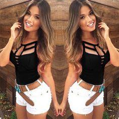 New Sexy Women Summer Vest Top Sleeveless Blouse Casual Tank Tops T Shirt #UnbrandedGeneric #TankCami #Casual